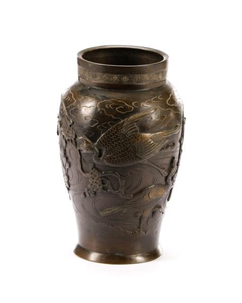 Japanese Meiji Bronze Vase Signed Yoshida Seikyo Lofty Marketplace