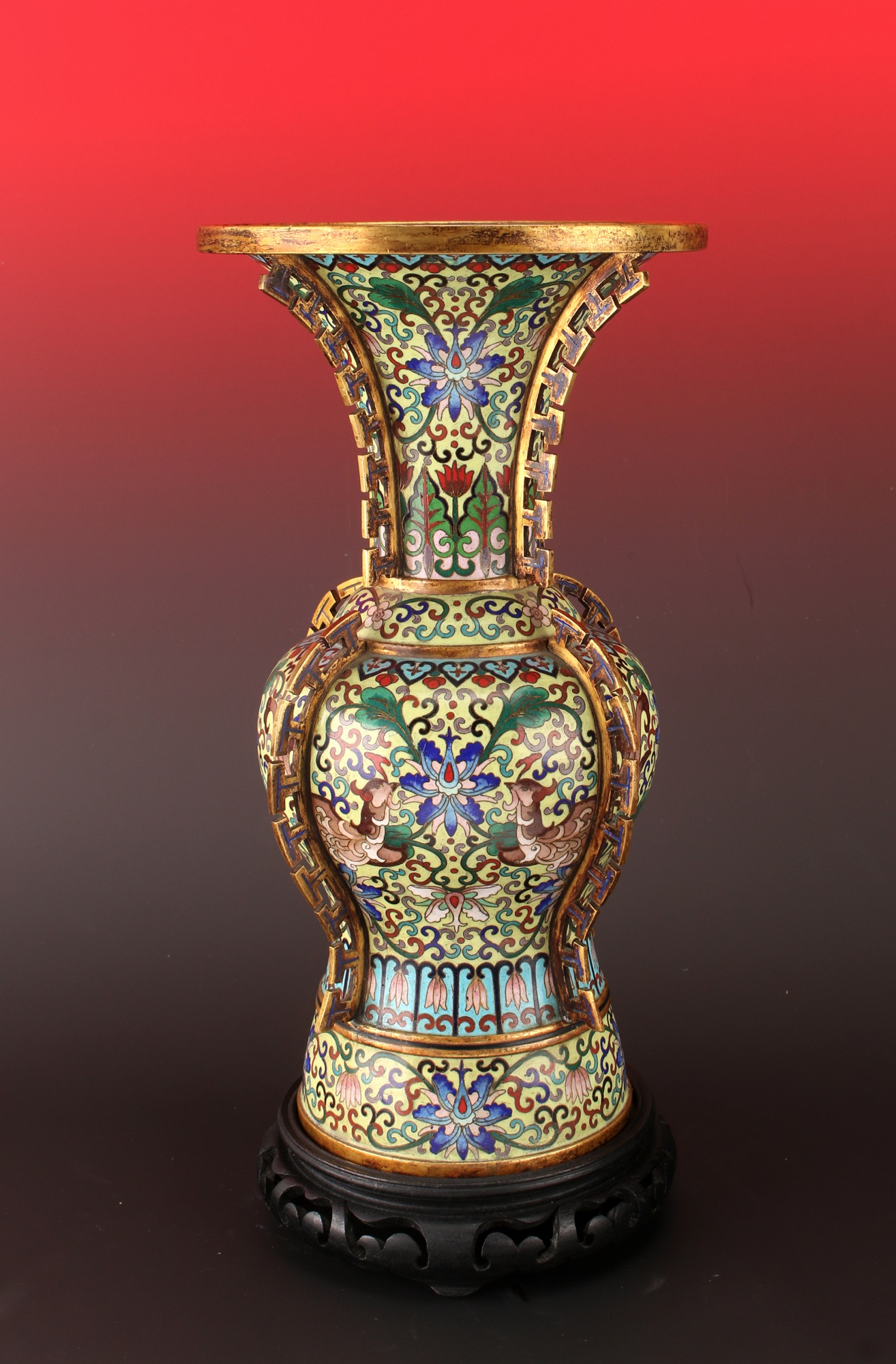 Cloisonne phoenix tail style vase with stand lofty marketplace reviewsmspy