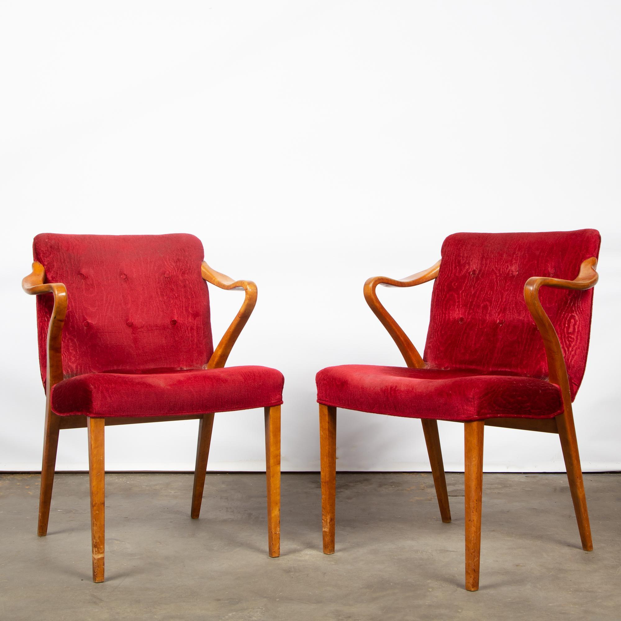Miraculous Pair Of Modern Curved Arm Chairs Inzonedesignstudio Interior Chair Design Inzonedesignstudiocom