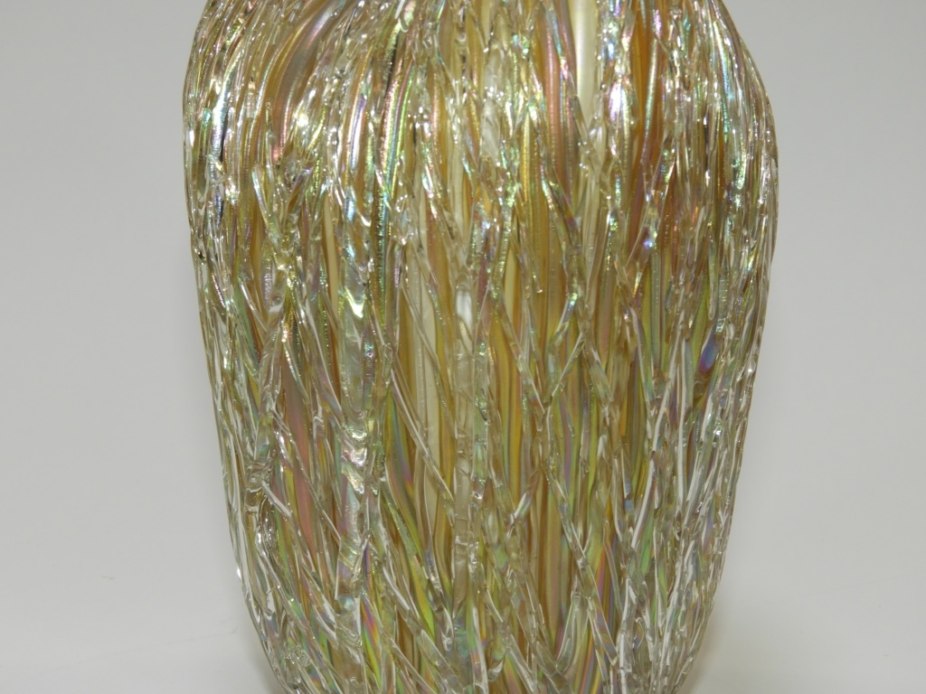 Austrian iridescent layered thread art glass vase lofty marketplace reviewsmspy