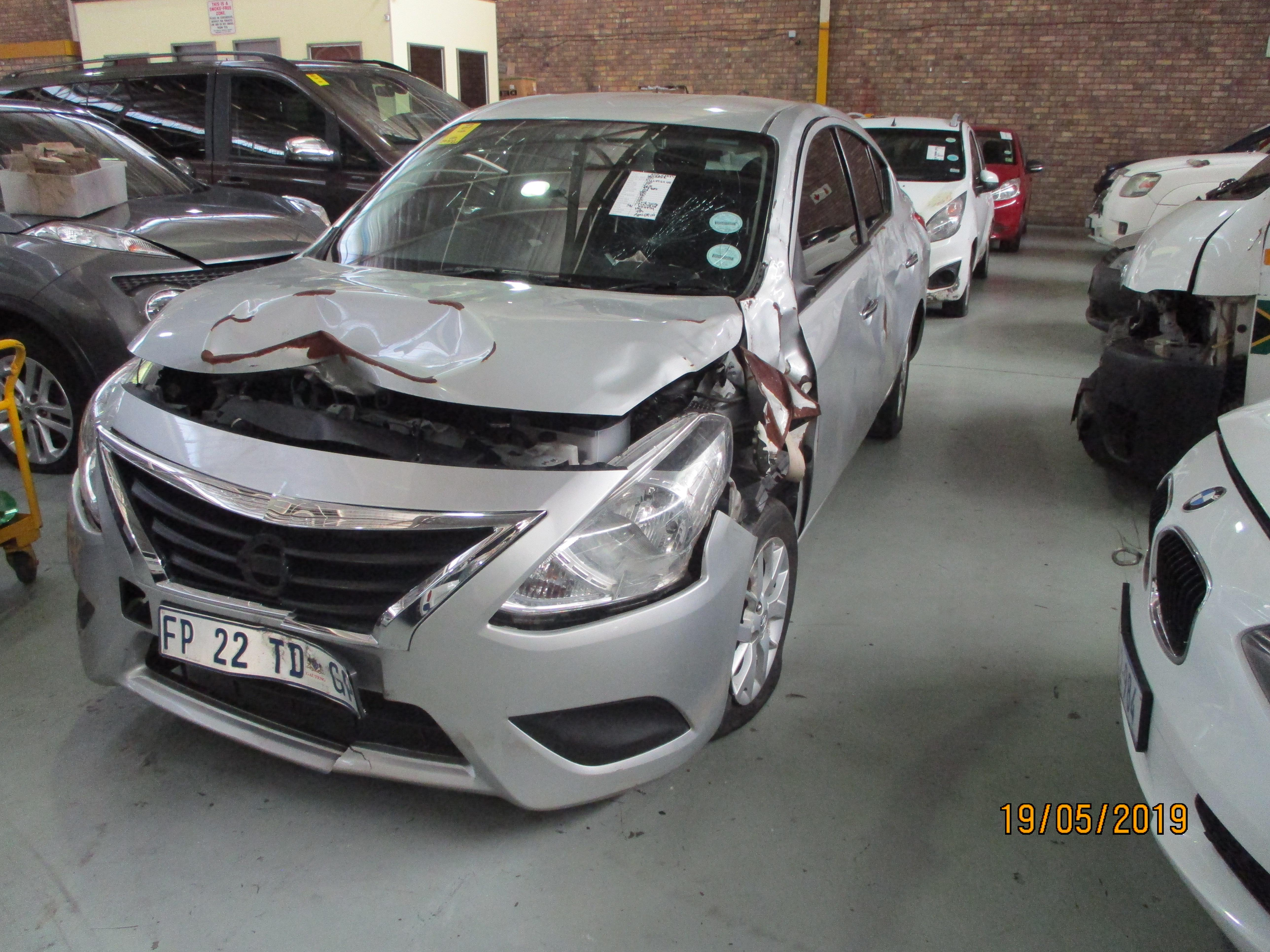 (ODO: 54802) (COLOUR: SILVER) (Accident Damaged)