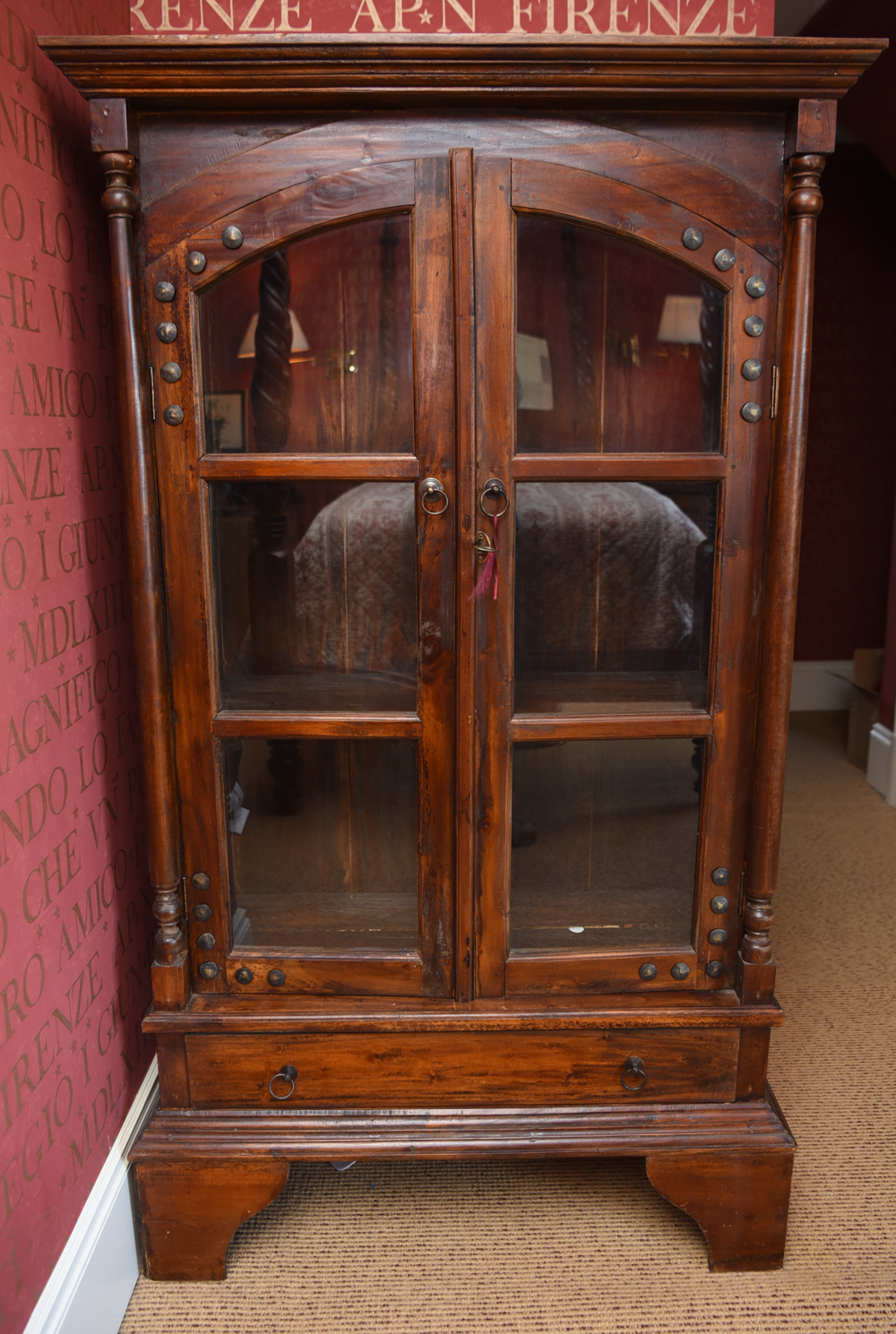 Glass Front Bookcase Cabinet