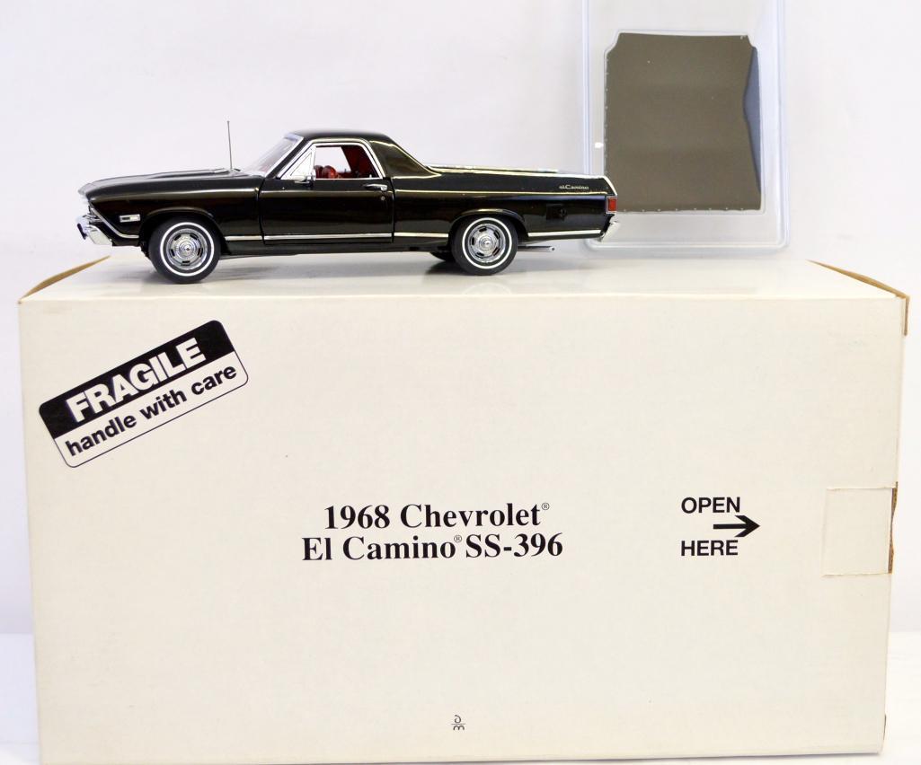 Danbury Mint 124 Die Cast Black 1968 Chevrolet El Camino Ss 396 Nmib Lofty Marketplace