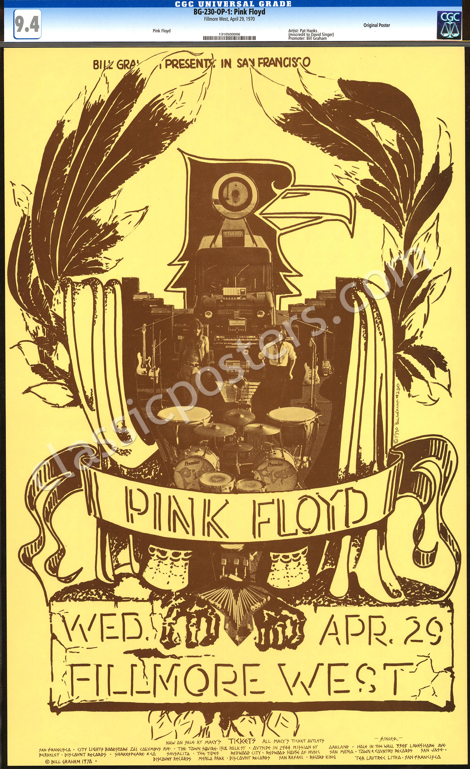 Rare Certified BG-230 Pink Floyd Poster – Lofty Marketplace