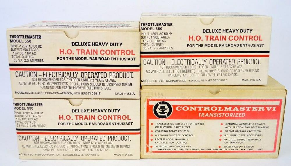 Four MRC Model Rectifier Corp NOS train transformers in Obs