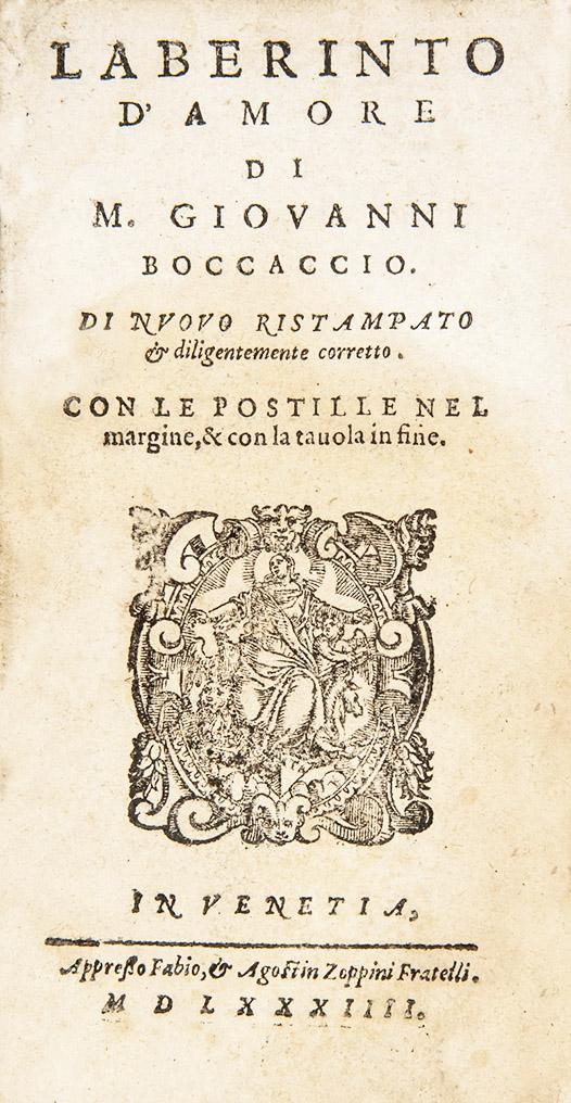 BOCCACCIO, Giovanni. Laberinto d'amore.