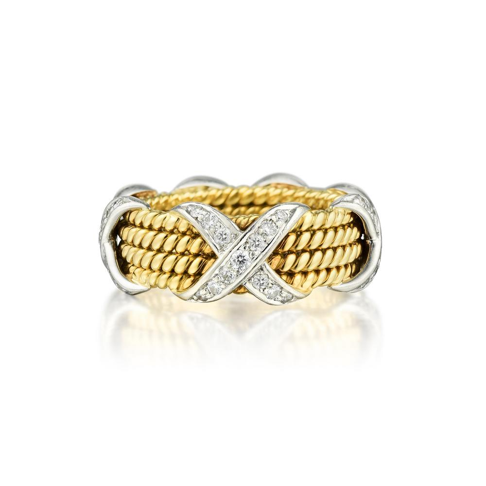 4b5ae4104da2e Tiffany & Co. Schlumberger X Rope 4 Row Diamond Ring