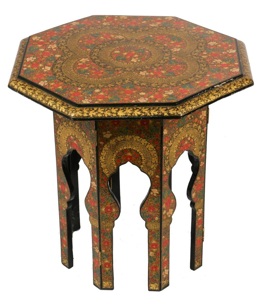 PERSIAN (IRANIAN) LACQUERED TABLE