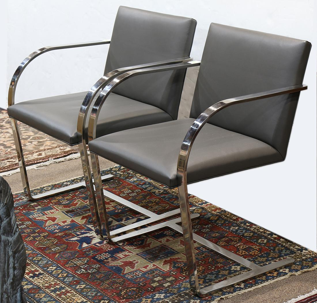 (lot Of 2) Mies Van Der Rohe (1886 1969) Brno Chairs
