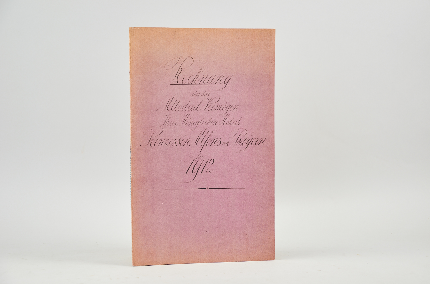ALFONS VON BAYERN – TEILNACHLASS des Prinzen Alfons von Bayern (1862-1933)