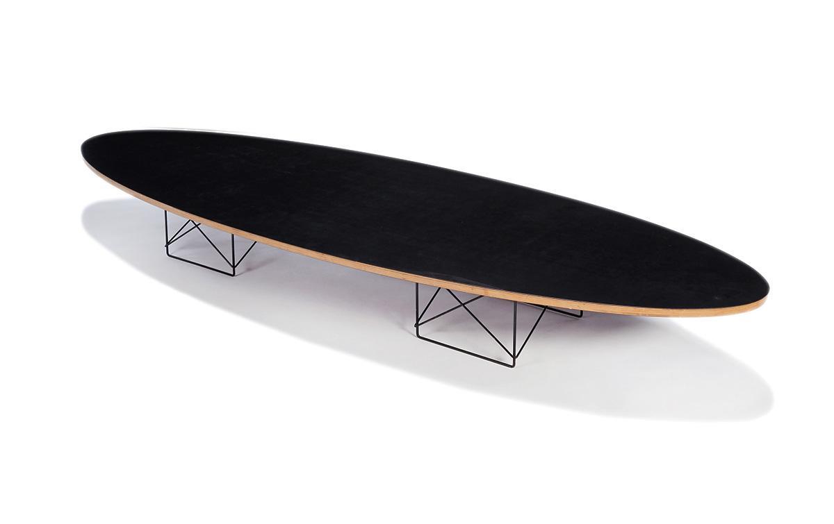 Charles U0026 Ray Eames: Elliptical Table Rod Base Coffee Table U2013 Lofty  Marketplace