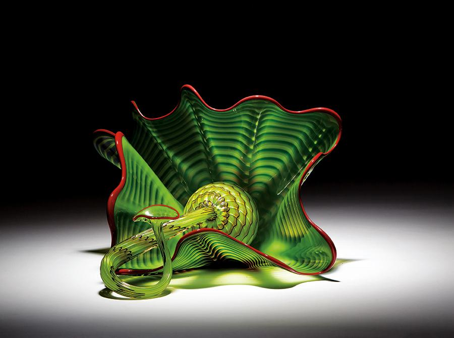 Dale Chihuly: Parrot Green Persian Set