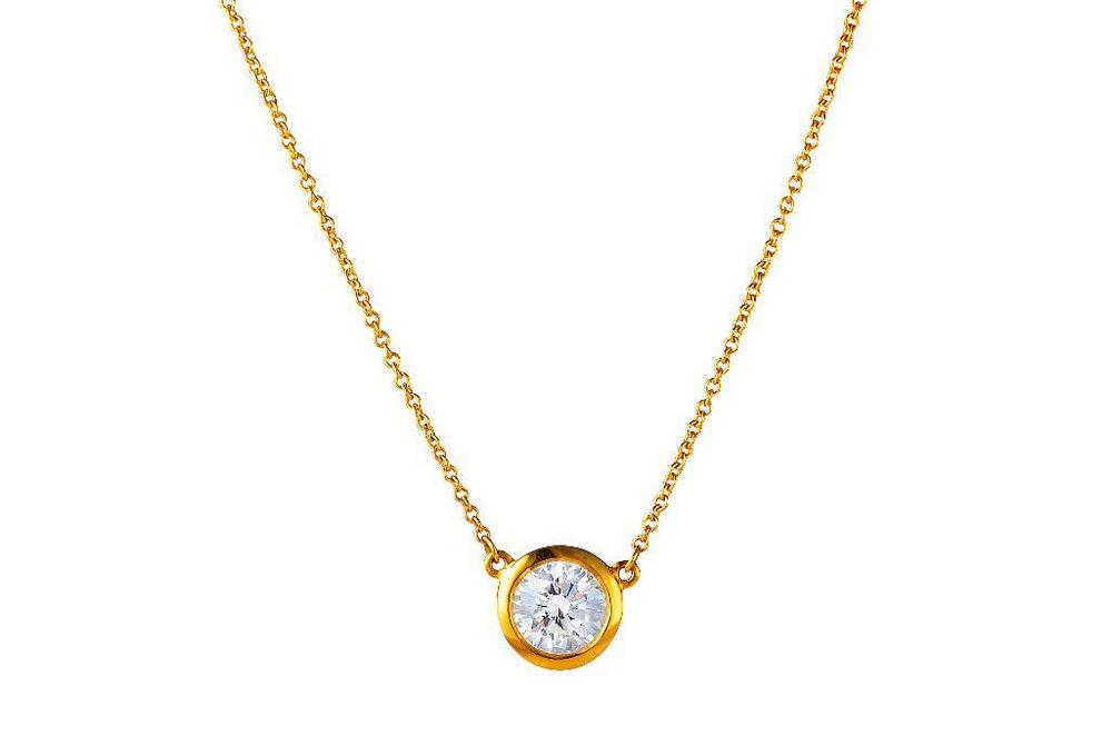 A Tiffany Co By Elsa Peretti Gold And Diamond Solitaire Necklace Lofty Marketplace