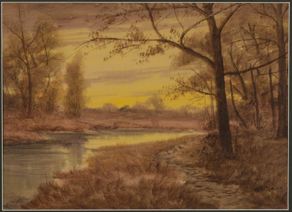 William Sitzman American 20th Century Landscape Painting Lofty Marketplace