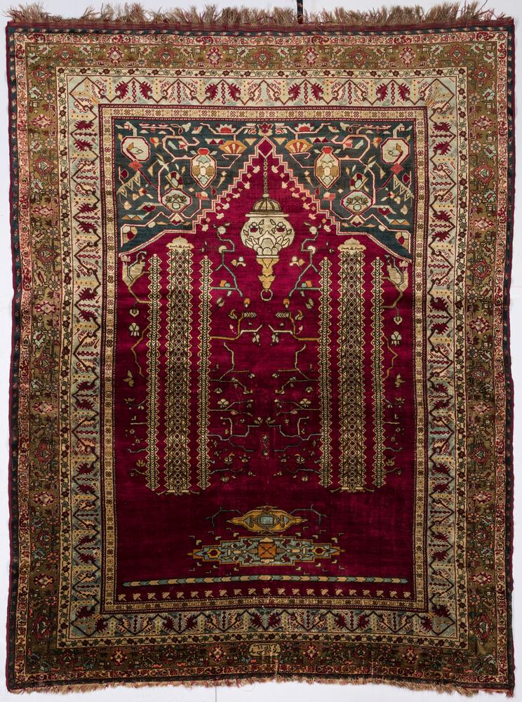 An Iranian Silk Prayer Rug 1893
