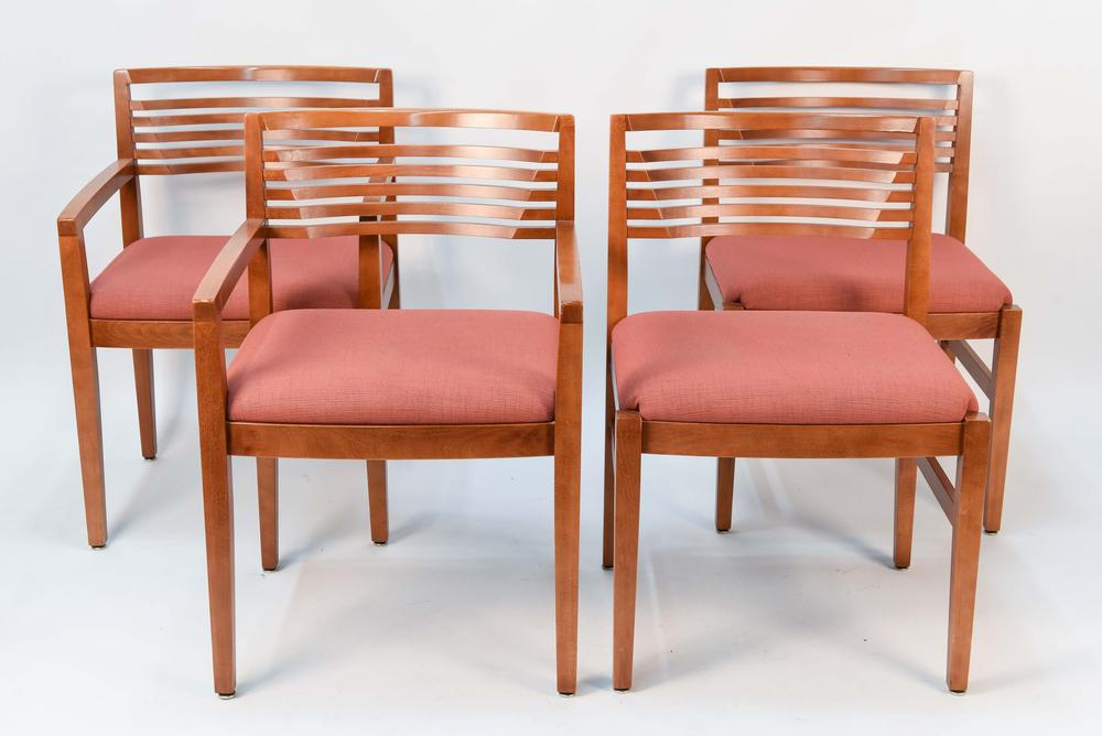 competitive price 3823d 269f4 SET OF (4) KNOLL RICCHIO DINING CHAIRS