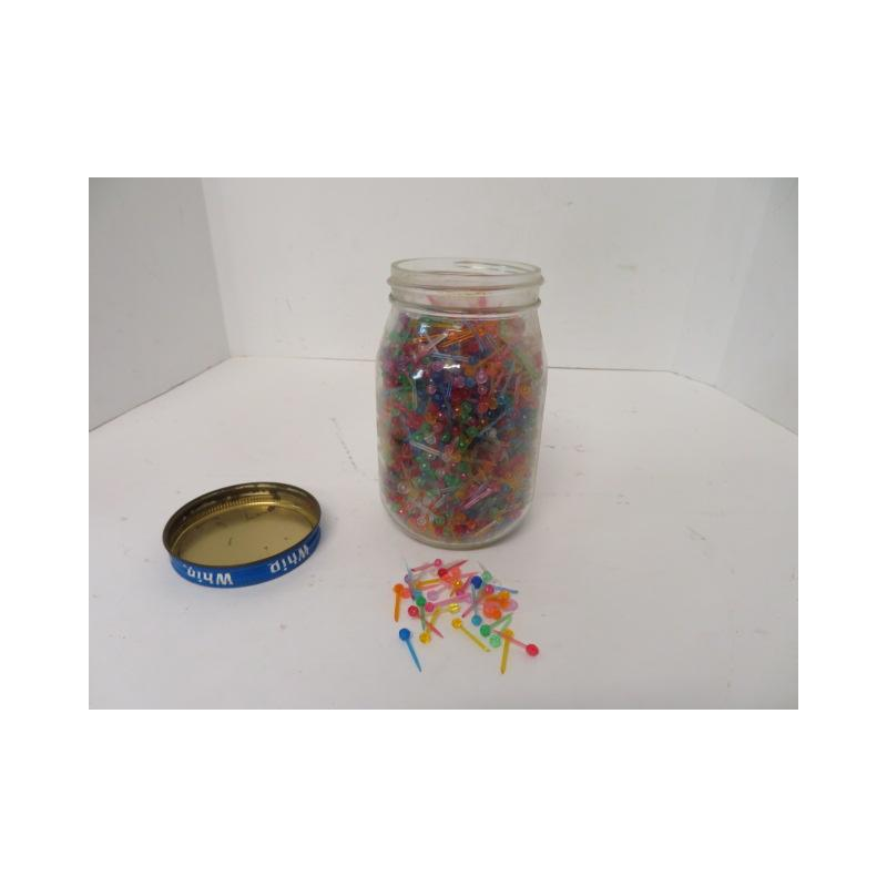 Jar Full Of Ceramic Christmas Tree Bulbs Marlette Online Auction