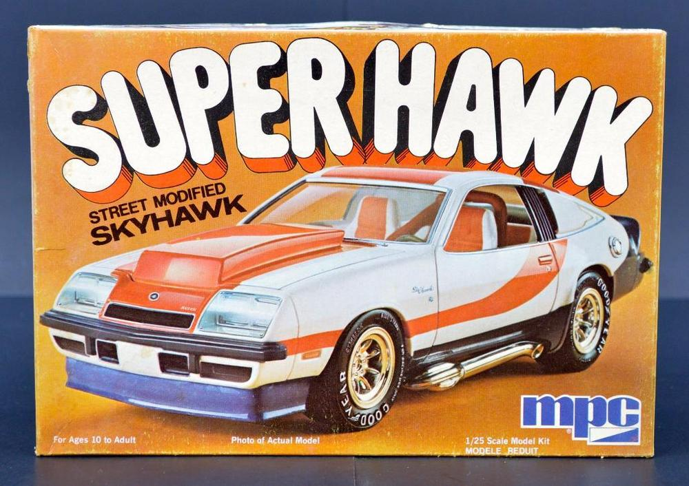Unbuilt MPC Super Hawk street modified Skyhawk 1/25 scale model kit 0770