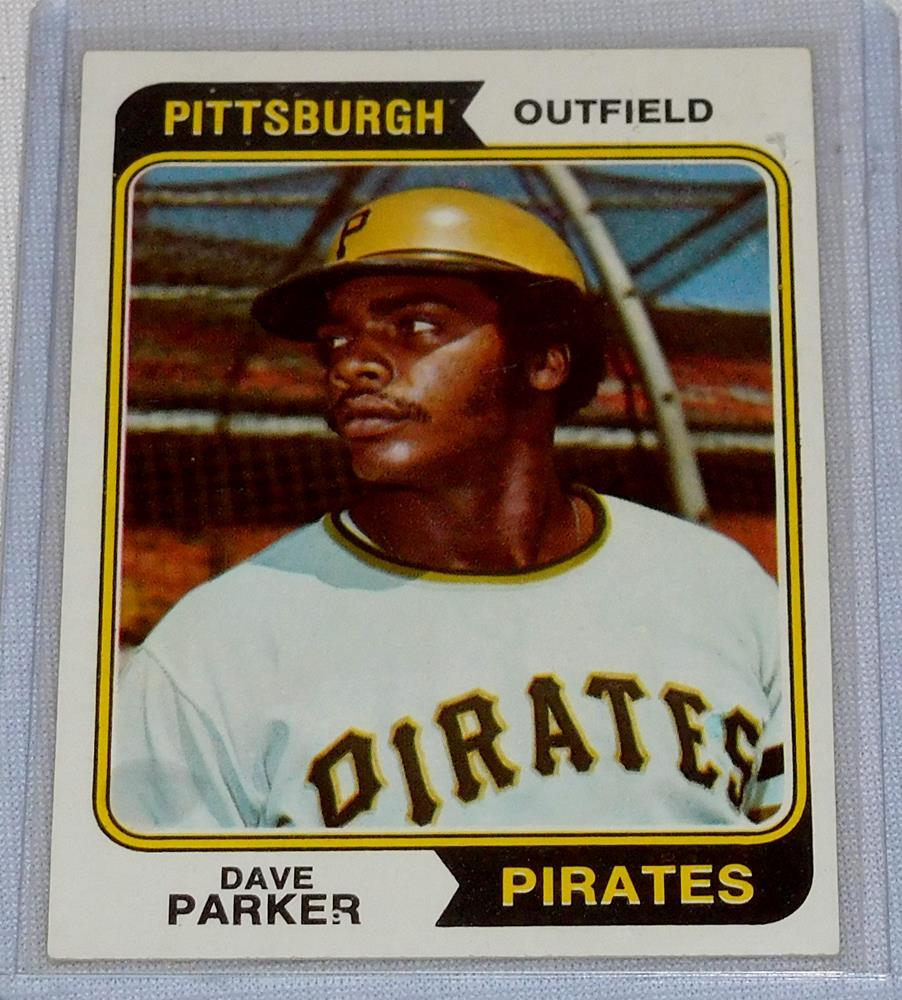 1974 Topps Baseball 252 Dave Parker Pittsburgh Pirates Rookie Card