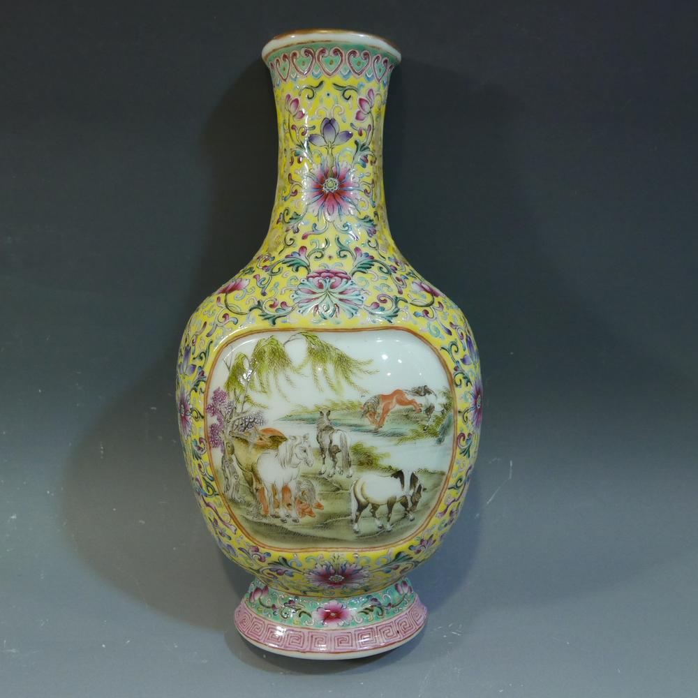 Chinese antique famille rose porcelain wall vase qianlong mark chinese antique famille rose porcelain wall vase qianlong mark republic period reviewsmspy