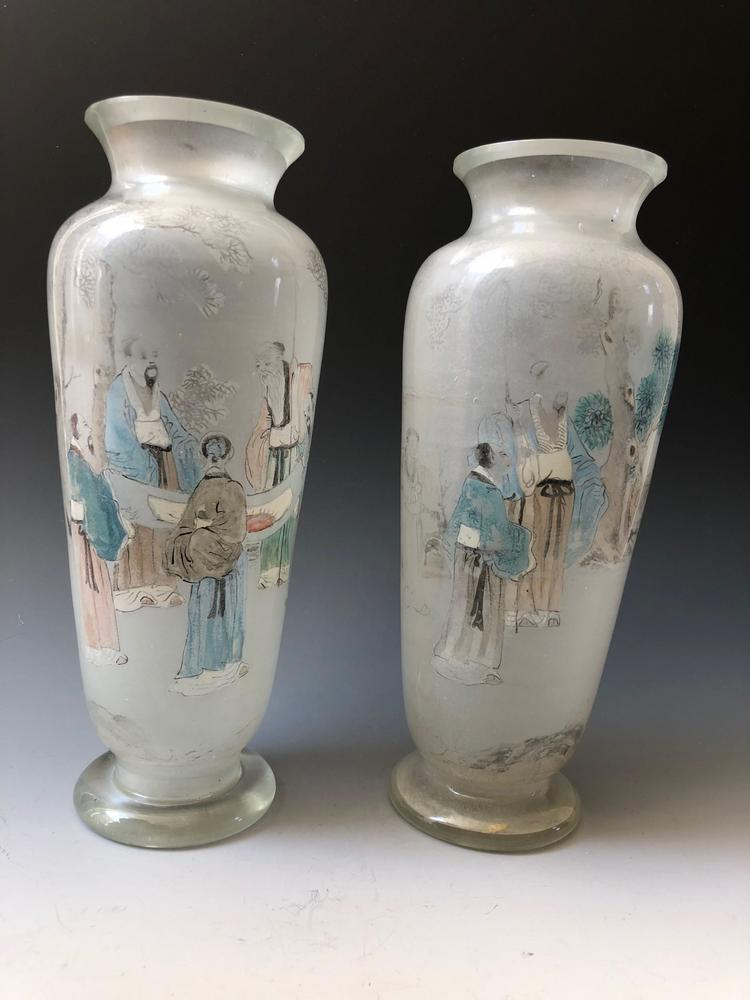 A Pair Of Chinese Antique Glass Vase 19c Lofty Marketplace