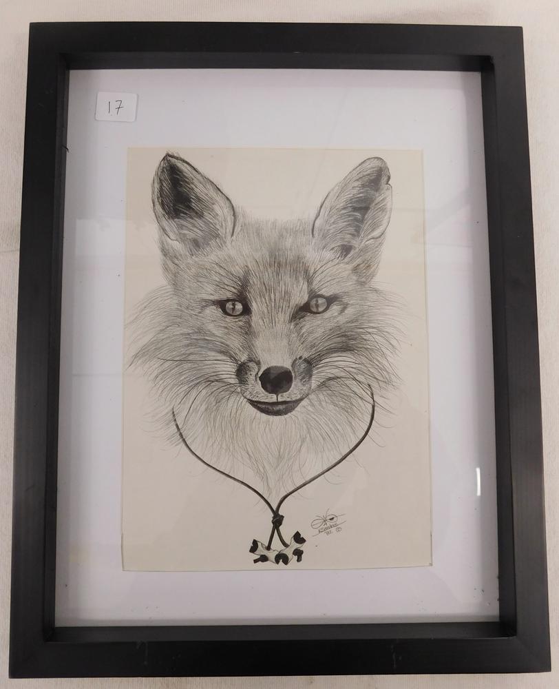 K sanders wolf pencil art