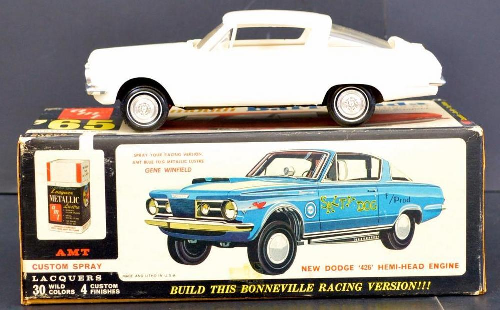 Built up AMT 1965 Plymouth Barracuda 1/25 scale model kit 6855
