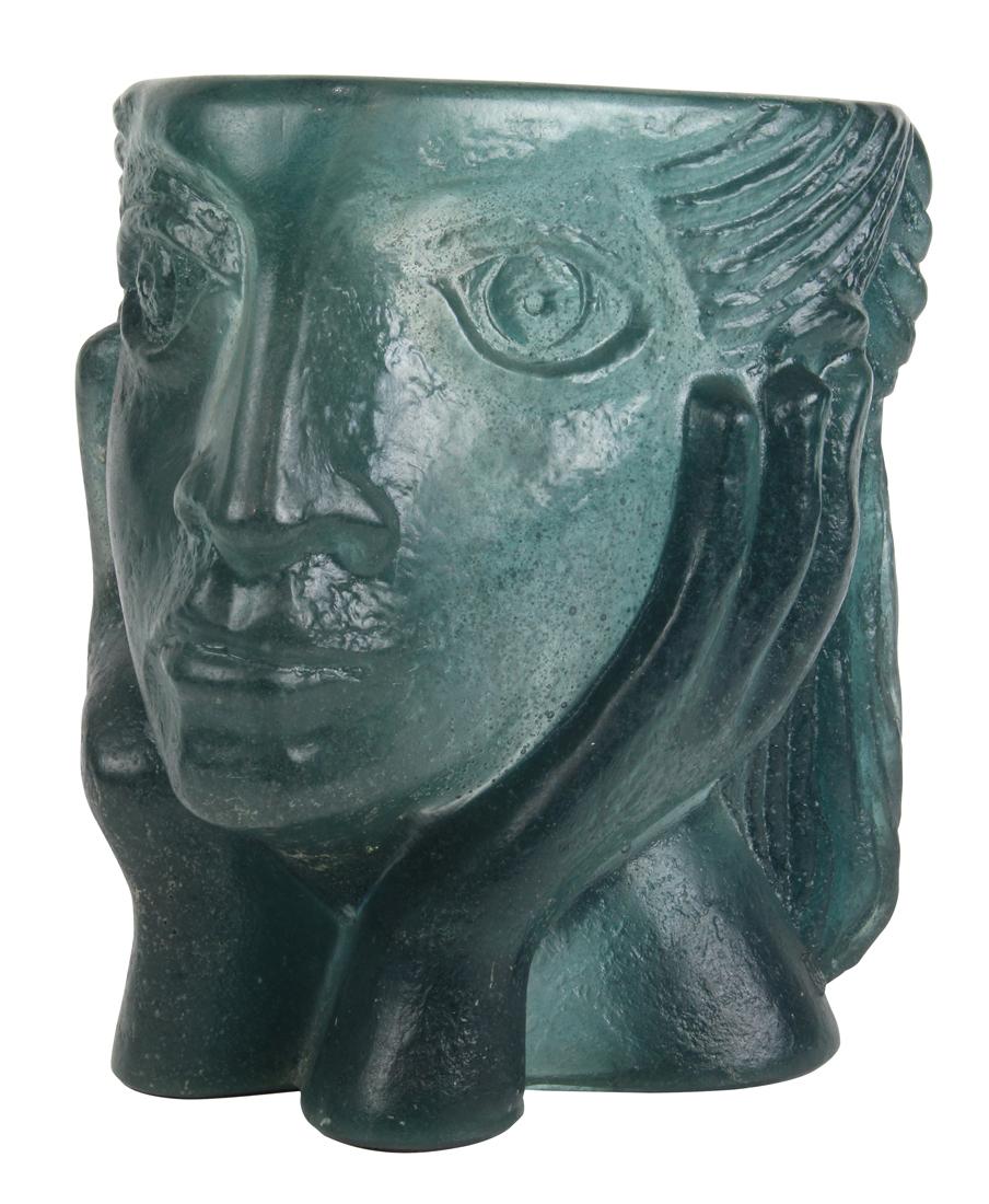 Daum pate de verre limited edition figural sculpture