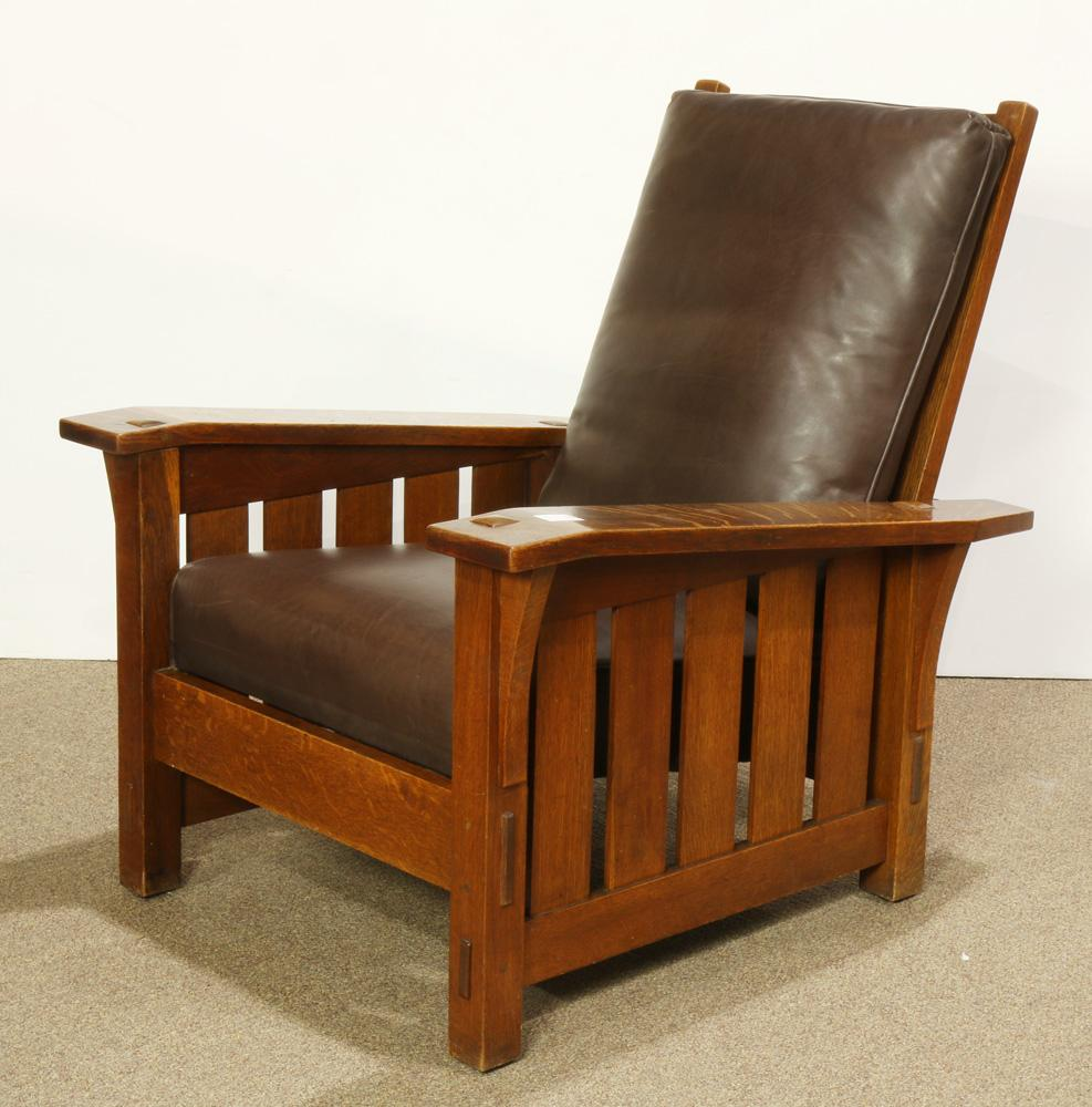 Remarkable Arts And Crafts Gustav Stickley Morris Chair Model 369 Alphanode Cool Chair Designs And Ideas Alphanodeonline