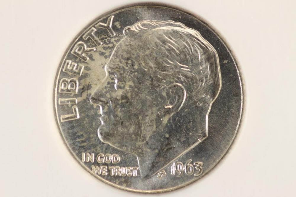 1963-D SILVER ROOSEVELT DIME BINION SILVER