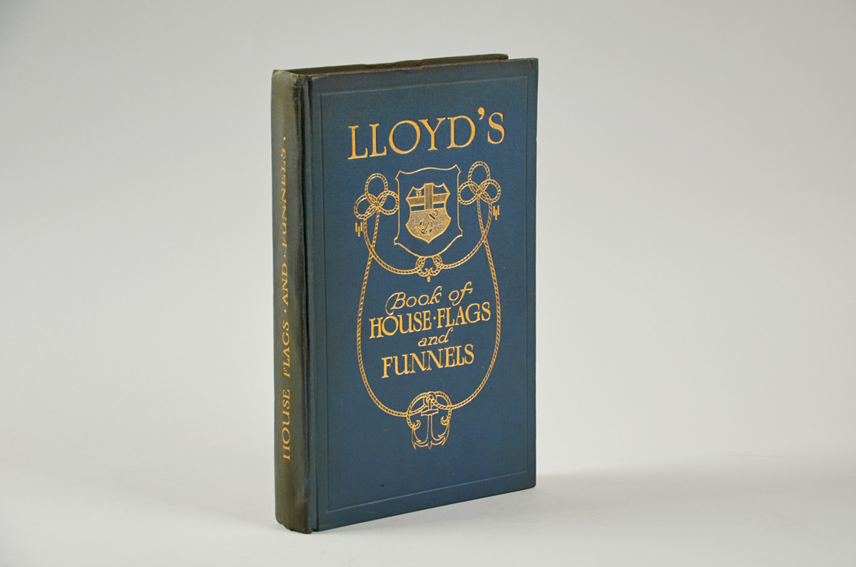 LLOYD'S BOOK OF HOUSE FLAGS & Funnels of the Principal Steamship Lines of...
