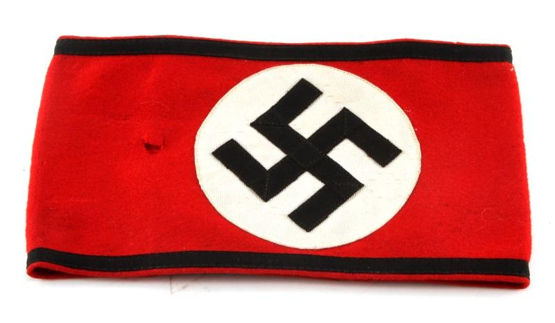 Wwii German Third Reich Red Waffen Ss Armband Affiliated Auctions