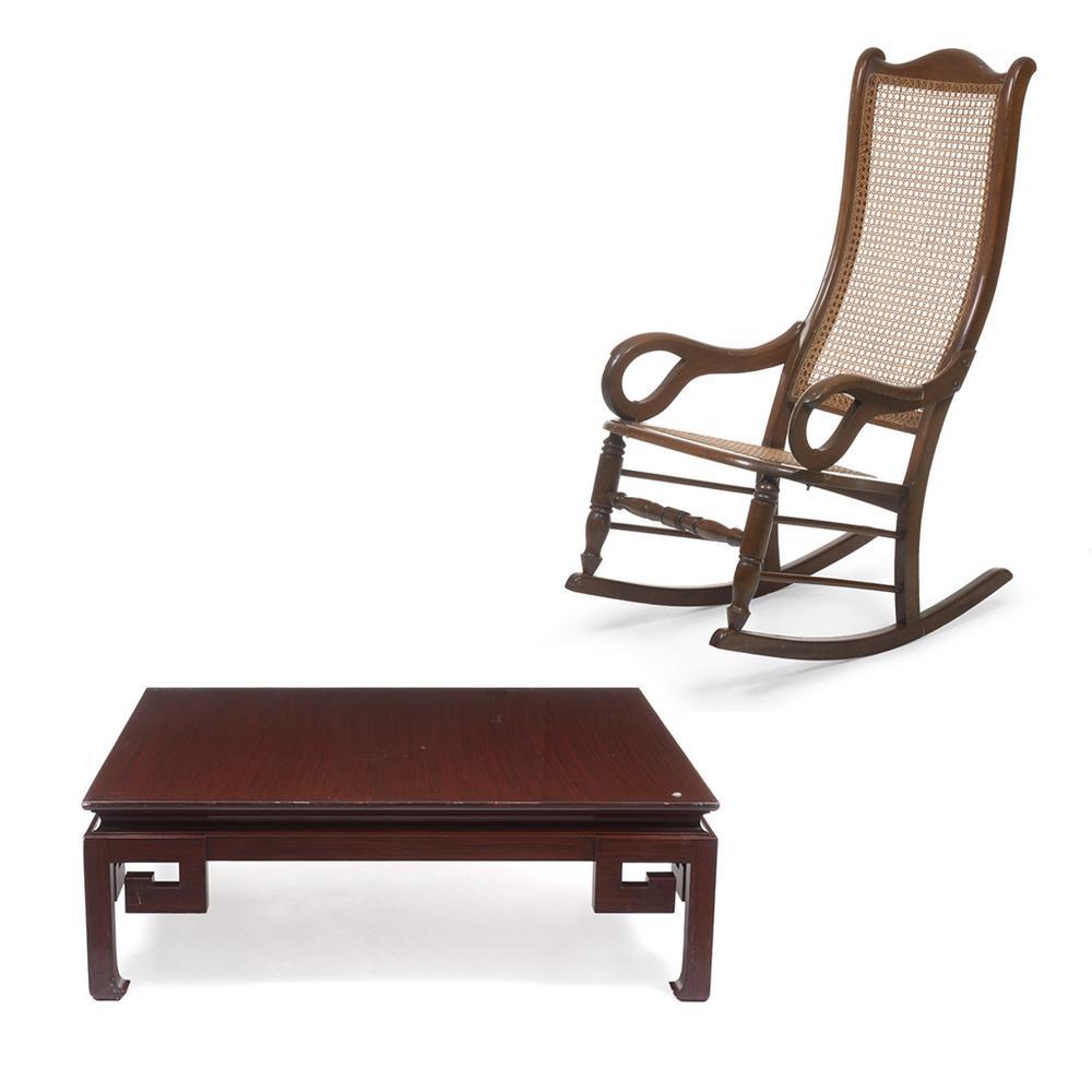 Lote De Muebles Siglo Xx A Mesa De Centro En Madera Tallada De  # Muebles De Bejuco