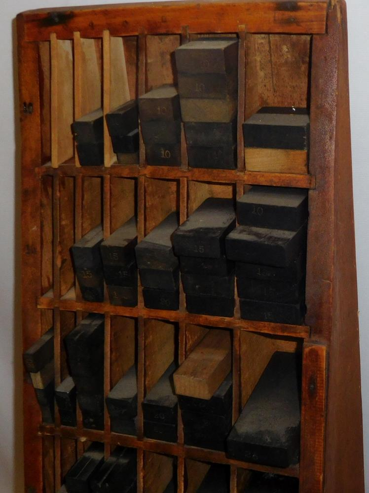 Antique Printers Letterpress Cabinet w/ Lots of Wooden Typeset Spacers –  Lofty Marketplace - Antique Printers Letterpress Cabinet W/ Lots Of Wooden Typeset
