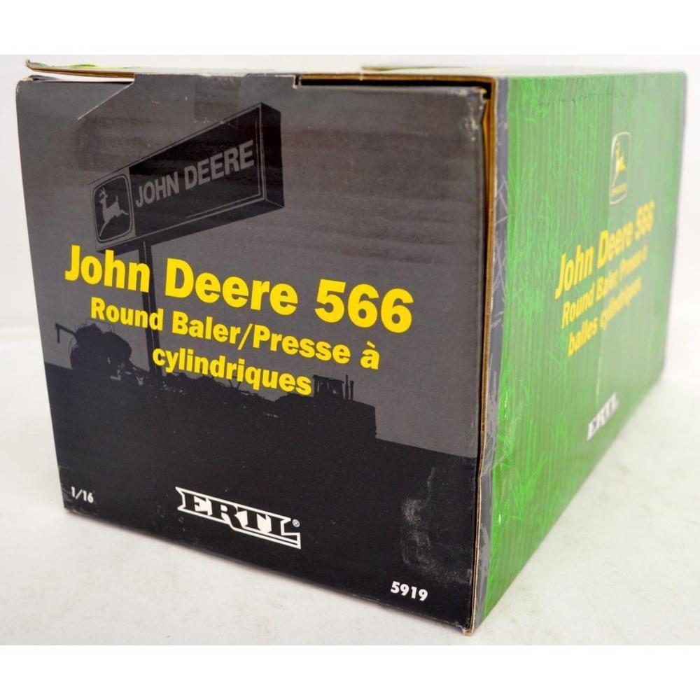 Ertl 1/16 5919 John Deere 566 round baler MIB