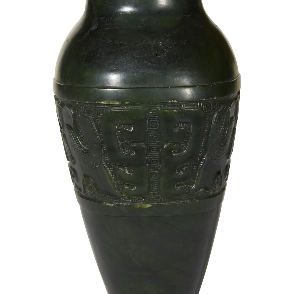 A chinese spinach jade archaistic conjoined vase and cover with previous next reviewsmspy