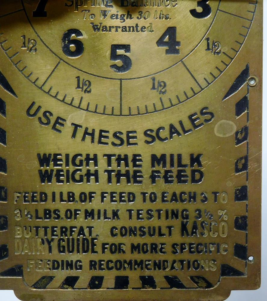 Antique Kasco Feeds Advertising Brass Scale