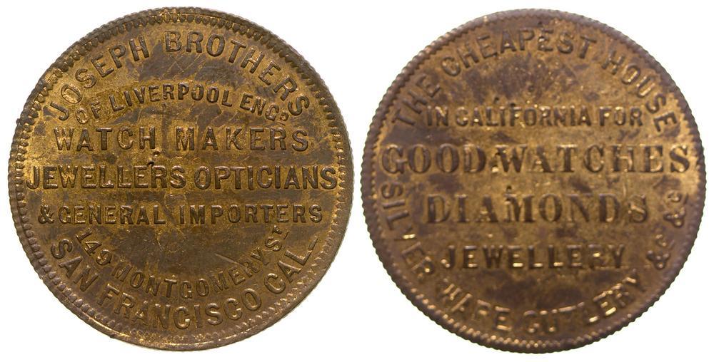 Joseph Brothers Store Card Token (Gold Rush Jeweler)