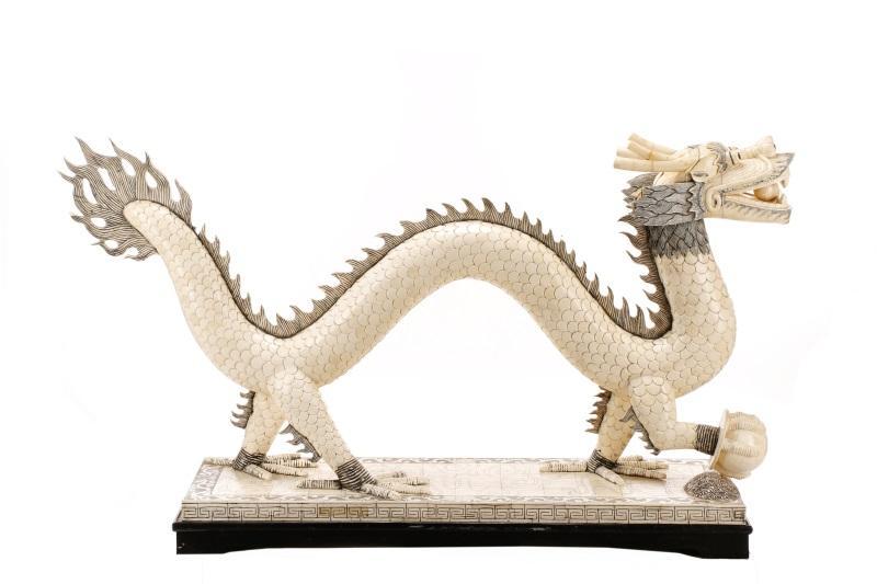 Chinese Tessellated Bone Dragon Sculpture Lofty Marketplace