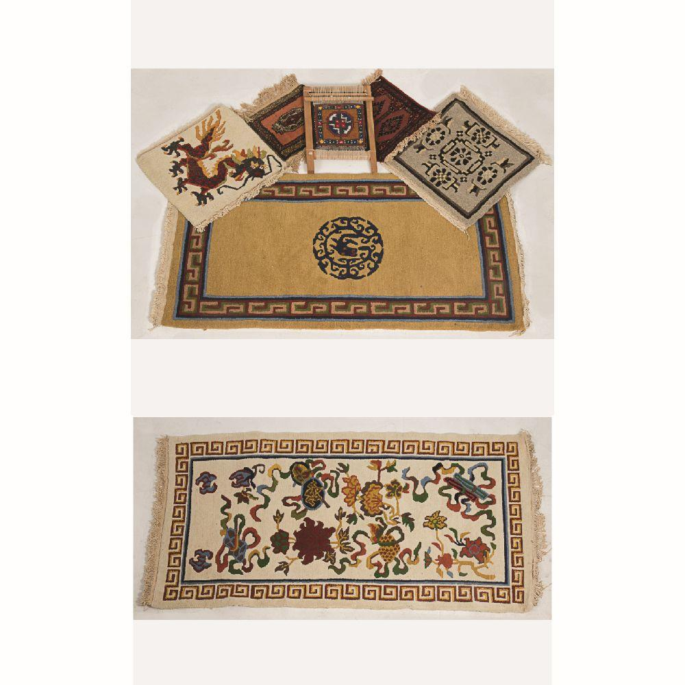Three Chinese Sculpted Wool Rugs