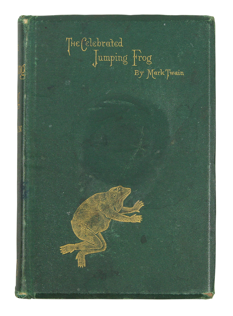 Twain, Mark: Celebrated Jumping Frog of Calaveras County, New York, Webb 1868
