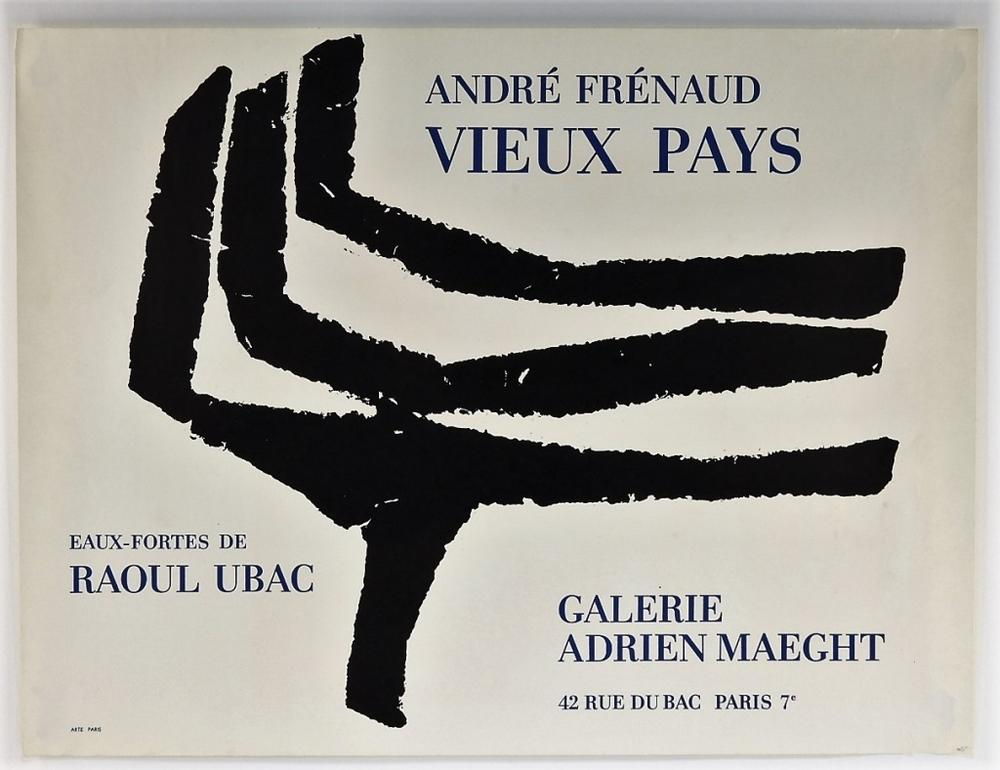 Andre Frenaud Abstract Lines Exhibition Poster