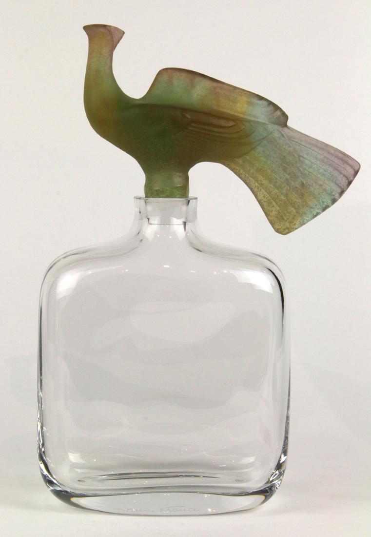 Daum crystal and pate de verre decanter