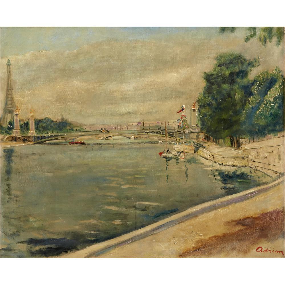 Lucien Adrion French 1889 1953 Le Pont De L Alma Lofty
