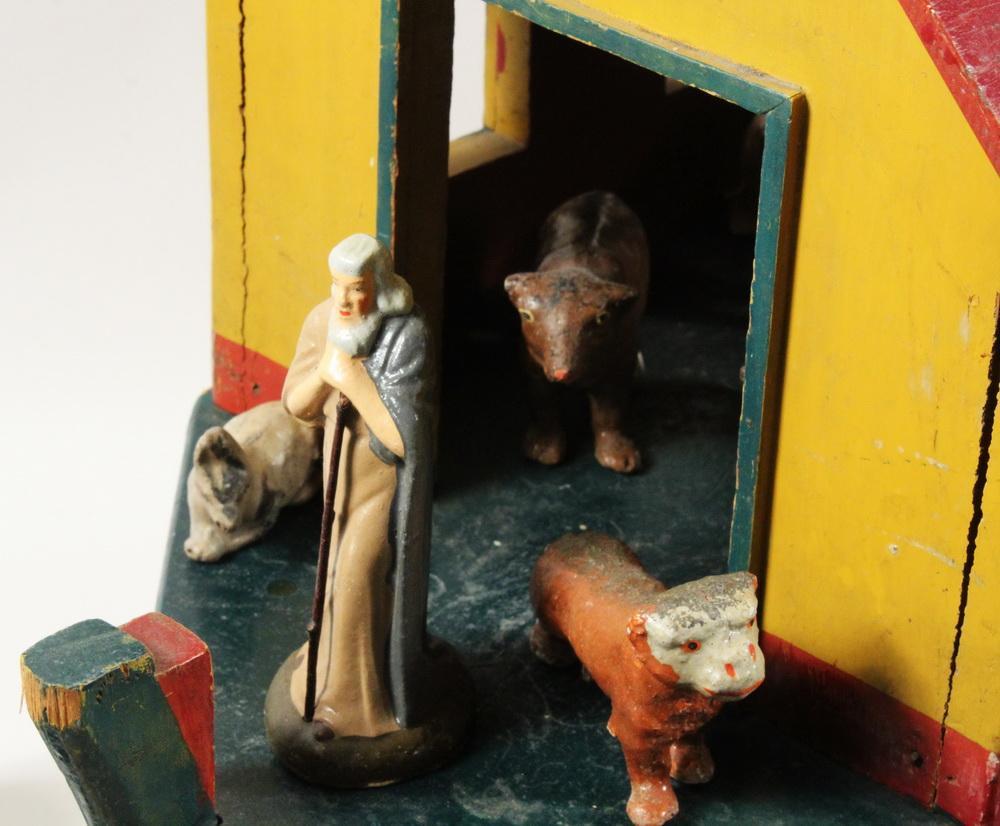 FOLK ART NOAH'S ARK TOY WITH (56) FIGURES | Thomaston Place