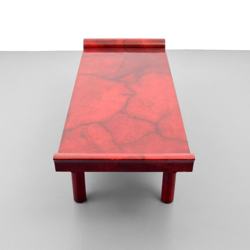 Karl springer goatskin kyoto coffee table palm beach modern auctions karl springer goatskin kyoto coffee table geotapseo Images