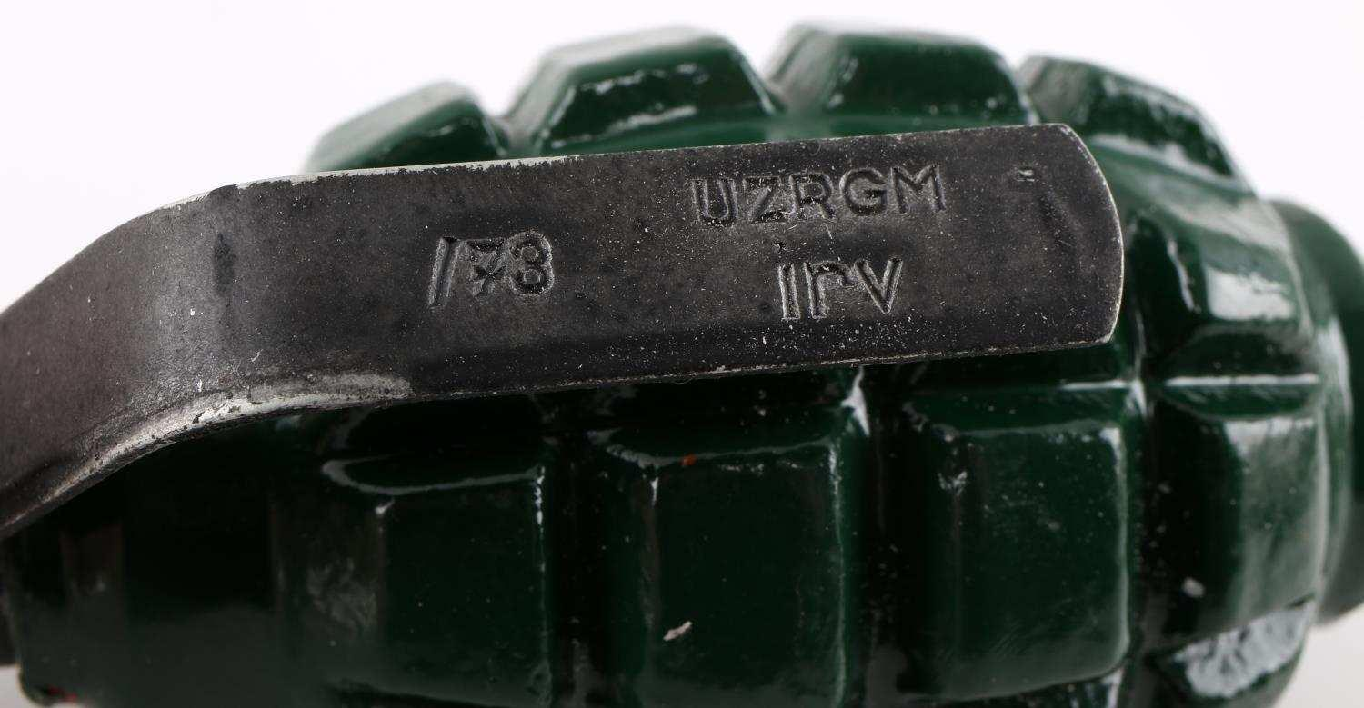 WWII SOVIET RUSSIAN F1 GRENADE WITH PIN REPAINTED   Affiliated Auctions