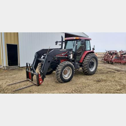 MXM Case IH 130 Tractor 4830 hours sells with westendorf TA