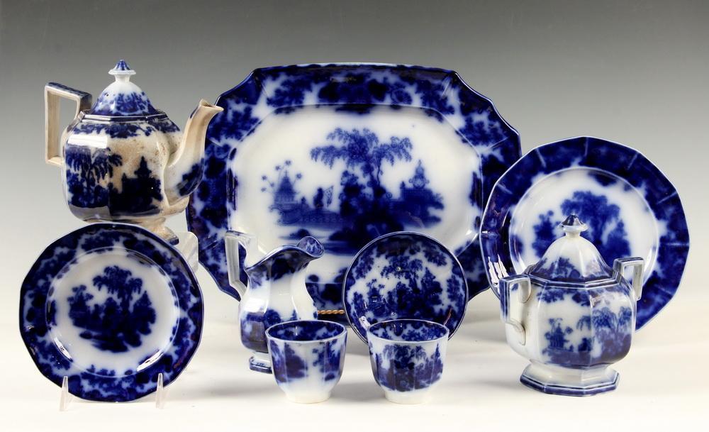 31 Pcs Flow Blue China Thomaston Place Auction Galleries