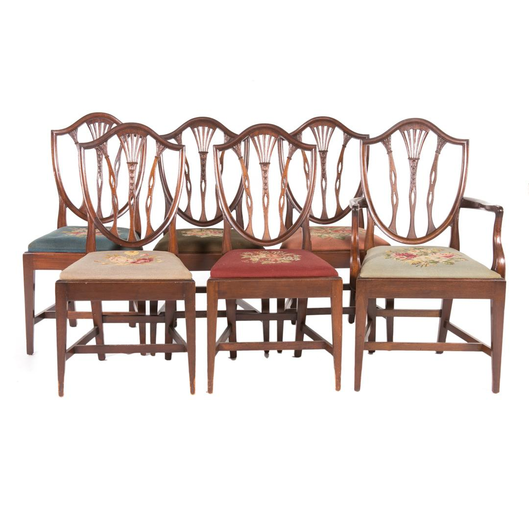 6 Potthast Brothers Federal Style Mahogany Chairs | Alex Cooper   Fine Art